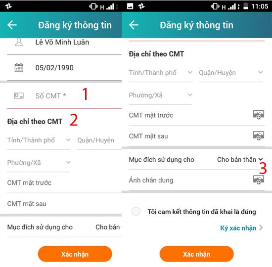 bổ sung thông tin chính chủ SIM Viettel 4