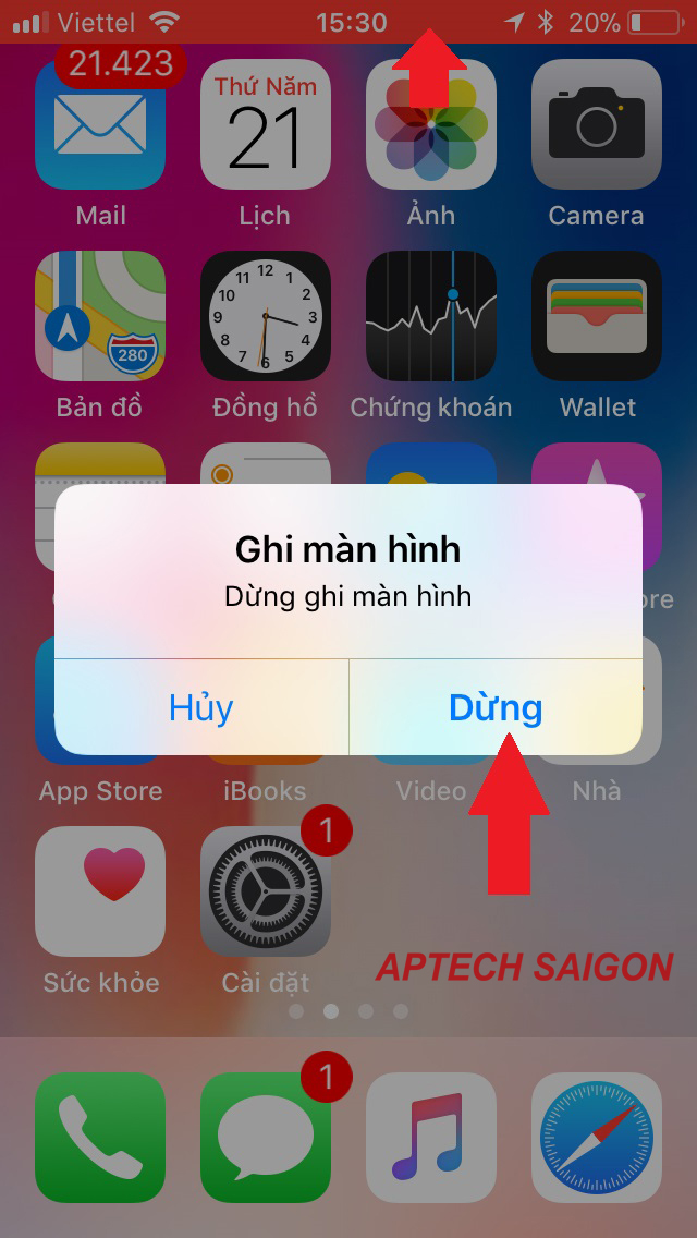 quay video màn hình iphone 2