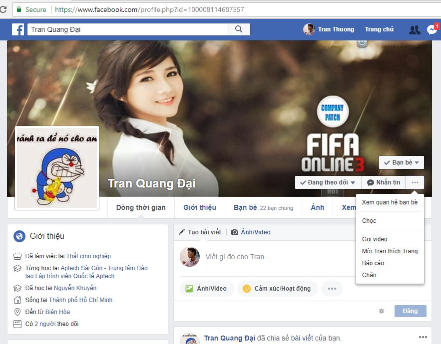 Thủ thuật báo cáo mạo danh tài khoản Facebook 1