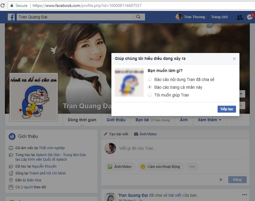 Thủ thuật báo cáo mạo danh tài khoản Facebook 2