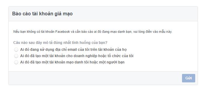 Thủ thuật báo cáo mạo danh tài khoản Facebook